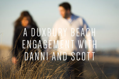 A Duxbury Beach Engagement with Danni and Scott